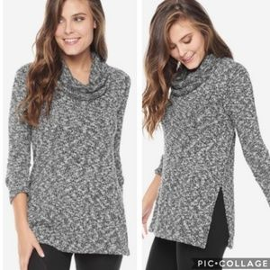 Splendid Lakefront Side Split Cowl Neck Sweater L